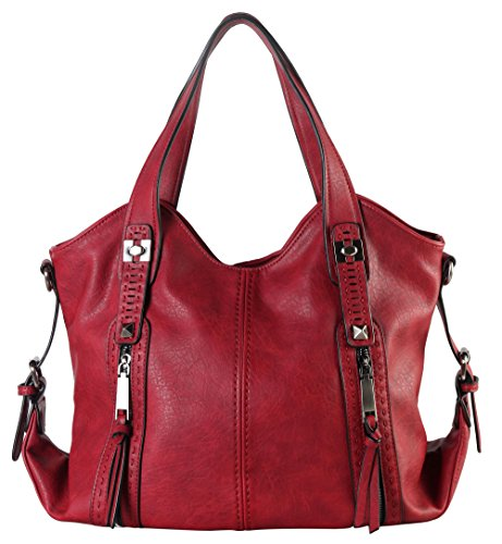 diophy-double-front-pockets-hobo-handbag-cz-3725-wine