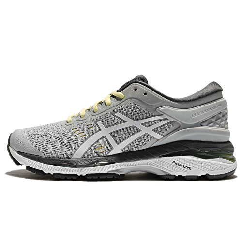 ASICS Women's Gel-Kayano 24, Glacier Grey/White/Carbon, 25 cm