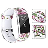 Compatible Fitbit Charge 2 Bands, UMAXGET Print Silicone Wristband Sport Replacement Strap Compatible Fitbit Charge 2 Smart Watch Large/Small