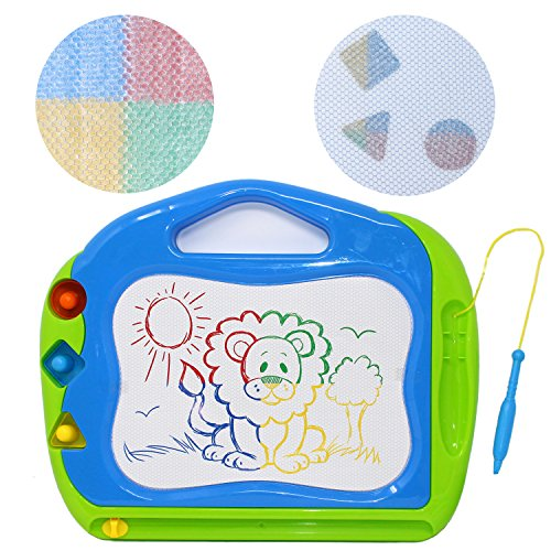 JOYIN 2 Magnetic Drawing Boards with Multi-Colors Drawing Screens Erasable Doodle Sketch Magna Board for Writing, Sketching, Travel Size Gaming Pad, Educational Learning and Classroom Prizes. by JOYIN (Image #2)