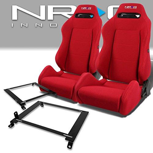 Pair of RSTRLGRD Racing Seats+Mounting Bracket for Honda Civic 7th Gen