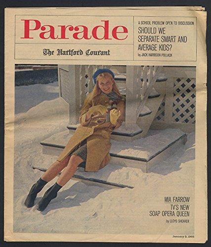 PARADE 1/3 1965 Mia Farrow; girls against unsafe drivers; burglar alarms