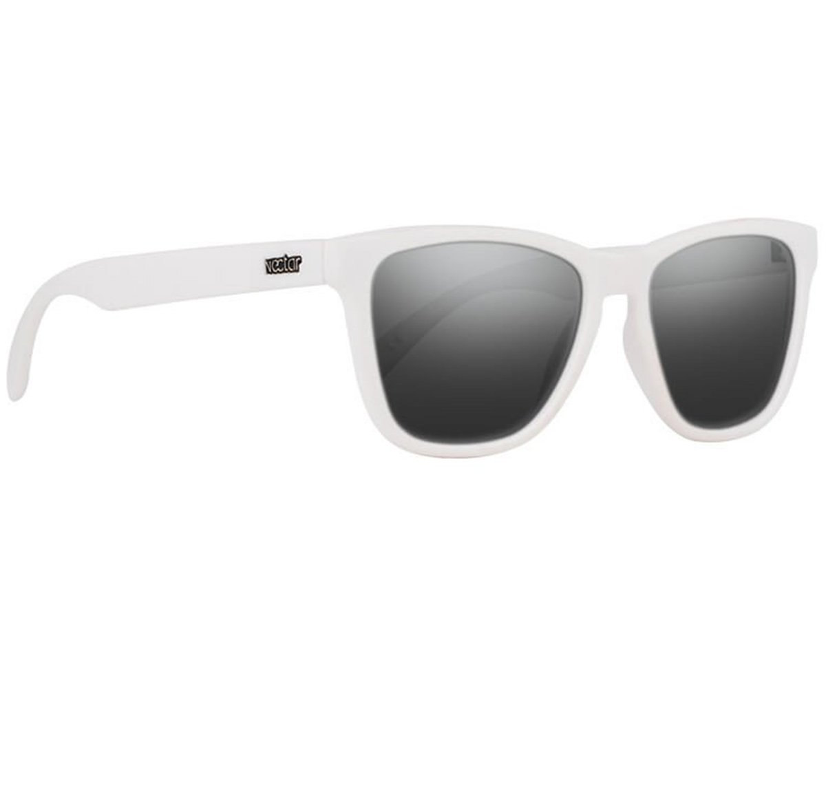 White Polarized Sunglasses For Men And Women With Black Lenses | Flex Frames | 100% UV Protection - The Crux By Nectar (Yeti) by NECTAR