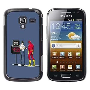 EJOY---Cubierta de la caja de protección la piel dura para el / Samsung Galaxy Ace 2 / --DIVERTIDO FLASH SUPER HÉROE y COP
