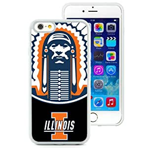 Hot Sale iPhone 6 Cover Case Big Ten Conference Football Illinois Fighting Illini 3 Protective Cell Phone Hardshell Cover Case For iPhone 6 4.7 Inch TPU White Unique And Durable Designed Phone Case