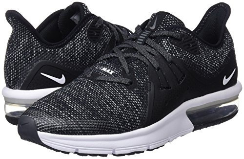 Nike Boy's Air Max Sequent 3 Running Shoe Black/White/Dark Grey Size 3.5 M US by Nike (Image #5)