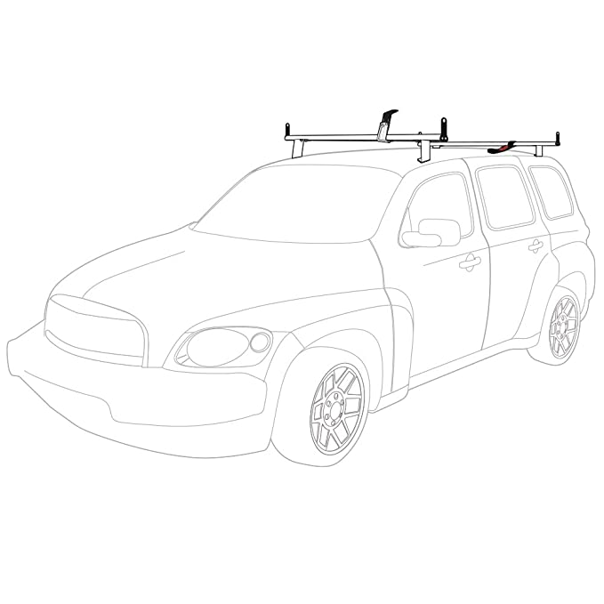 Amazon Com Vantech Chevy Hhr 2 Bar Ladder Roof Rack 50 Bars W