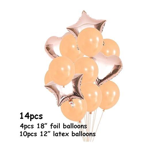 qin-er Balloons Globos 28 Piezas, Decoraciones de cumpleaños ...