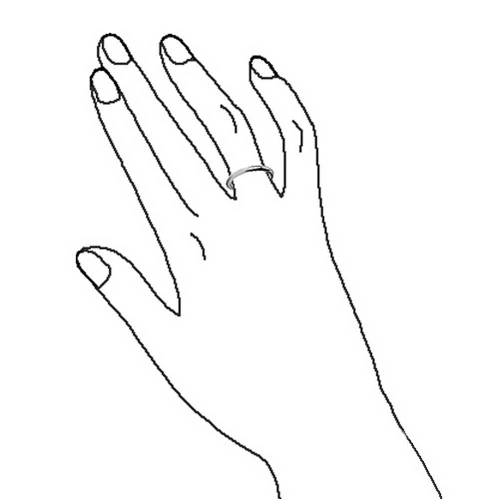Bling Jewelry Unisexe Poli Bague de Mariage de tungst/ène 2mm