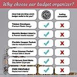 Budget Planner Organizer Wallet - 12 Plastic Tabbed Cash Envelopes, All-in-One Cash Envelope System Wallet, Coupon Organizer, Monthly Bill Organizer with Pockets, Budget Envelopes Monthly Bill Planner