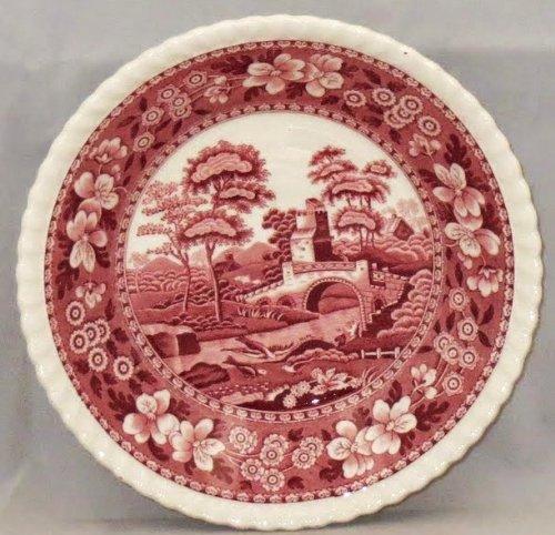 Spode Tower-Pink (Older Backstamp) Fruit/Dessert (Sauce) Bowl (Older Fruit Dessert Bowl)