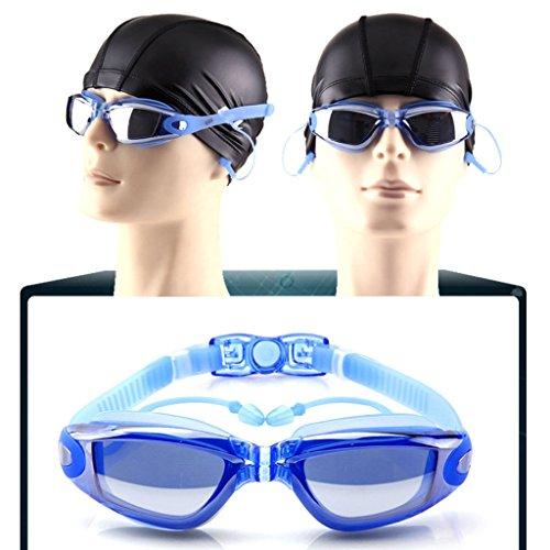 oídos Impermeable antivaho explosiones Prueba con los de Gafas Tapones y miopía PC natación de Material Plana de para Azul a luz galvanoplastia nWgWFqwYO