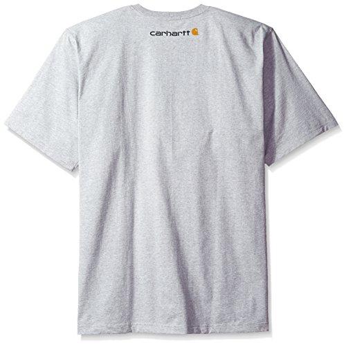 1b900d17fe Carhartt Men's Big & Tall Signature Logo Short Sleeve Midweight Jersey T- Shirt,Heather