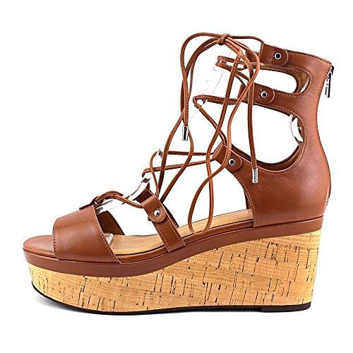 Coach Barkley Women US 8.5 Tan Wedge Sandal MbS4ifD