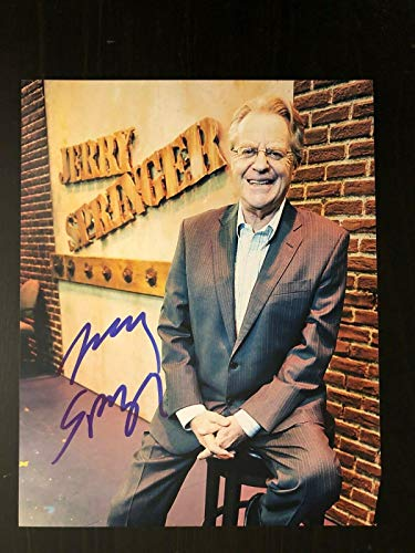 Jerry Springer Signed Autographed 8x10 Photo - Judge, Beads, Cincinnati, Show 1 from Hollywood Memorabilia