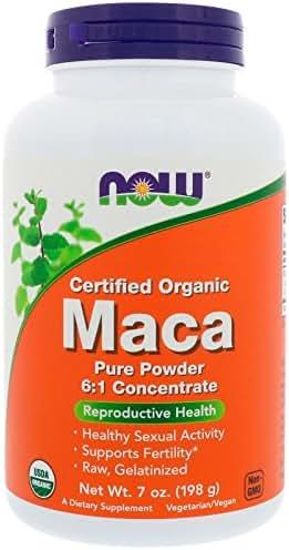 NOW Foods Organic Maca 6:1 Concentrate Powder-7 oz Powder