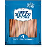 Best Bully Sticks 6-inch USA Bully Sticks Dog Chews - Made in USA, All-Natural, Grass-Fed, Free-Range, Single-Ingredient, 100% Beef (18 Pack)