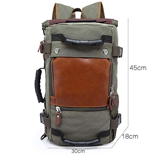 50L Waterproof Travel Backpack Men Wmultifunction 17.3 Laptop Backpacks Male Outdoor Luggage Bag Mochilas, 0208-Armygreen