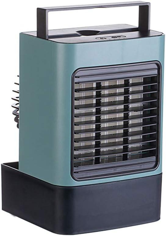 Portable Air Conditioner Fan, Rechargeable Mini Air Cooler, gift idea, W/ Handle Air Cooling Fan, USB Rechargeable Evaporative Air Cooler Humidifier Purifier w Anion, Desktop Cooler Fan (green))