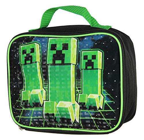 Minecraft Creeper Kids/Boys Lunch Box School Food Container Childrens Bag