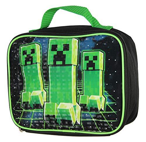 Minecraft Creeper Kids/Boys Lunch Box School Food Container Children's Bag