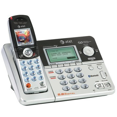 AT&T EP5632 5.8 GHz Digital BlueTooth Enabled Cordless Phone with Answering System -