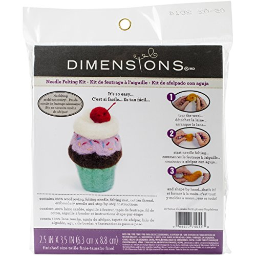 Dimensions Crafts 72-74044 Cupcake Needle Felting (Dimensions Needlework Kits)