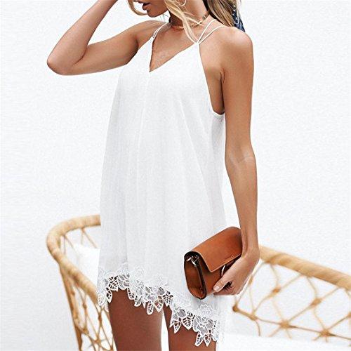 Cocktail Donna Casual Donna Bianco Vestito Formale Abito Donna V Vestito Abiti Scollo Donna A Sexy Senza Maniche Mini Vestito Kword Elegante Da Abito Estivo nv0vpBq