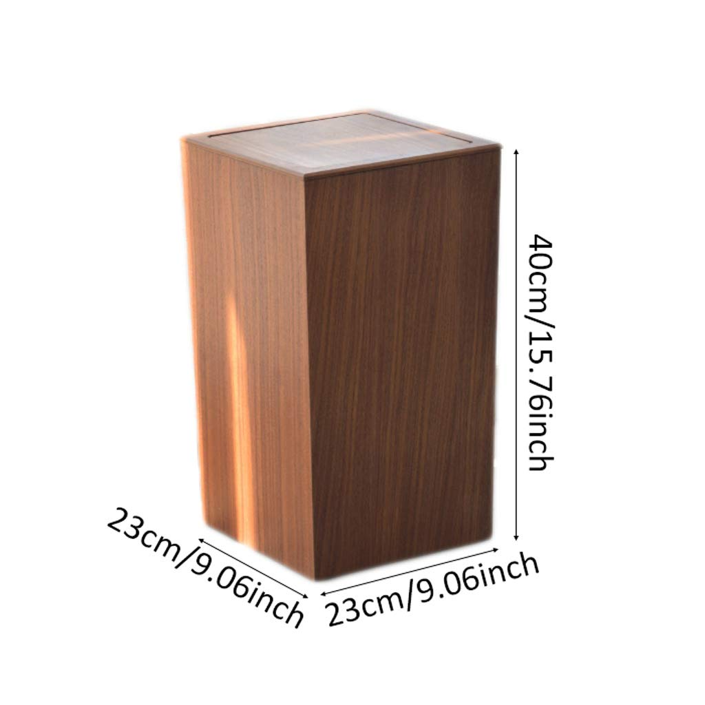 Amazon.com: Nordic Simple Flip Wooden Dustbins, Home Square ...