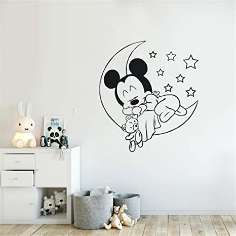 Mickey Minnie Mouse Wandkunst Aufkleber Aufkleber ...