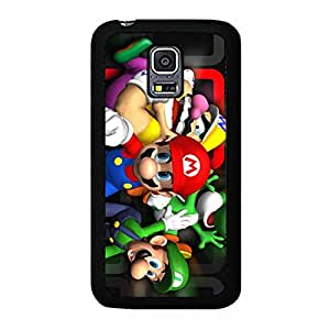 Comic Design Cover Shell Cartoon Super Mario Phone Case Snap on Samsung Galaxy S5 Mini Beautiful Amazing Mario Anime Pattern Cover Case