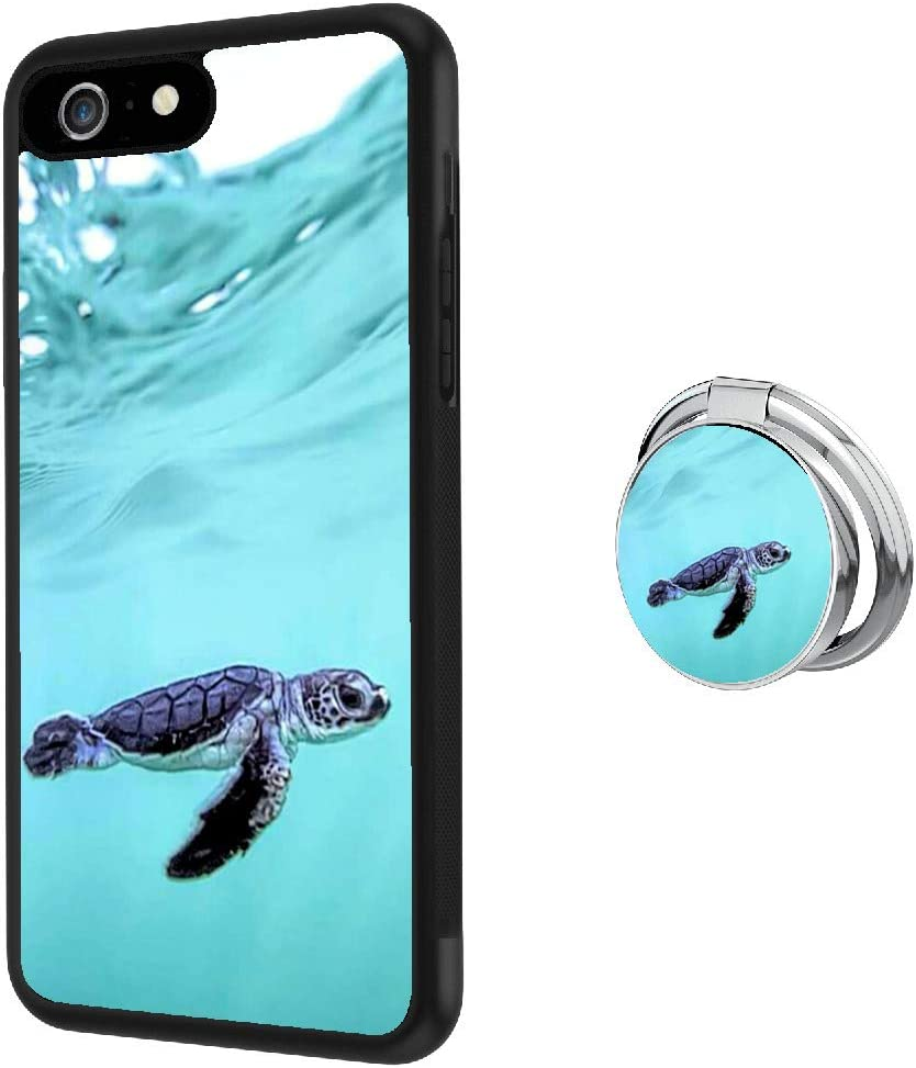 Universal Custom Sea Turtle iPhone 6s 6 Case with Ring Holder Kickstand Rotational Heavy Duty Armor Protective Soft TPU Bumper Shell Cover for iPhone 6s 6