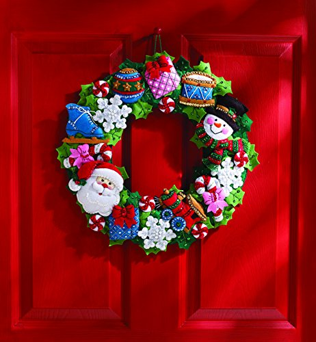 Bucilla Felt Applique Wall Hanging Wreath Kit