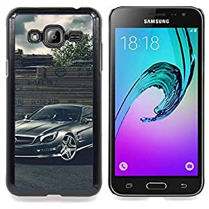"Qstar Arte & diseño plástico duro Fundas Cover Cubre Hard Case Cover para Samsung Galaxy J3(2016) J320F J320P J320M J320Y (Merc German Car"")"