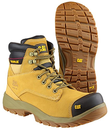 Caterpillar Lace-Up Textile Lined Mens Safety Boots - Honey - Size 11