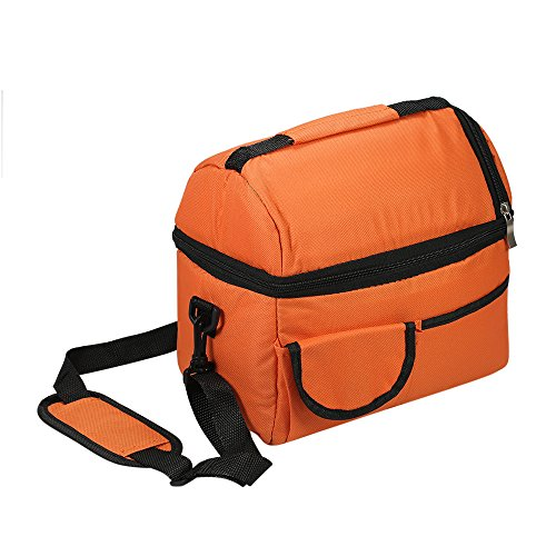 dd51352b9235 Esonmus Insulated Lunch Bag Reusable Cooler Lunch Box Meal Prep Containers  For Work Men Women Teen Boys Girls With Adjustable Strap(Orange)