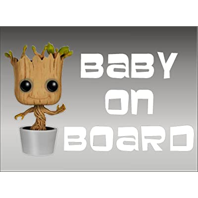 Groot Baby on Board / Guardians of the Galaxy / Vinyl Vehicle Graphics Kids Window Sticker Decal: Automotive