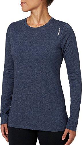 センブランス加速度メンバーリーボック トップス シャツ Reebok Women's Heather Core Cotton Long FauxIndigo [並行輸入品]
