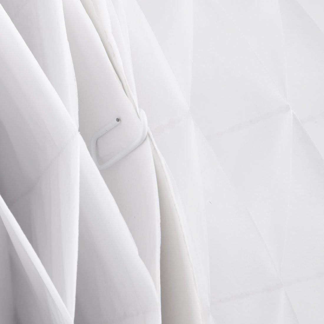 Amazon.com: eDealMax Papel plegable DIY Cadena colgante de la linterna de la lámpara de la decoración de la bola de Nido de abeja 12 pulgadas Dia Blanca: ...