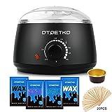 Hair Removal Wax Warmer Kit - Wax Warmer DTOETKD Waxing Hair Removal Kit with 4 Wax Beans+20 Wax Applicator Sticks+4 Small Bowls