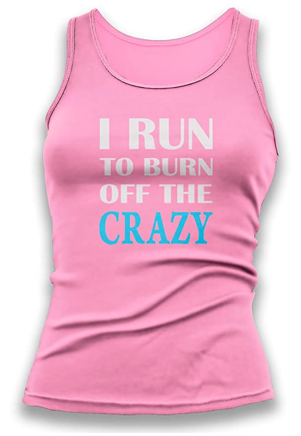 Paranoid Penguin Run To Burn Off The Crazy Womens Ladies Vest Tank Top -  Gift For Wife - Gift For Girlfriend - Gym Wear: Amazon.co.uk: Clothing
