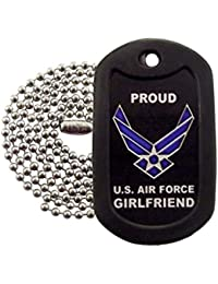 Military Dog Tags - Proud Air Force Girlfriend Dog Tag Necklace - Tag-Z