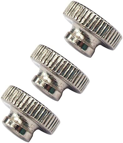 Vaorwne Knurled Thumb Nuts M3 Carbon steel Knurled Thumb Nuts 20 Pcs for 3D Printer Heated Bed