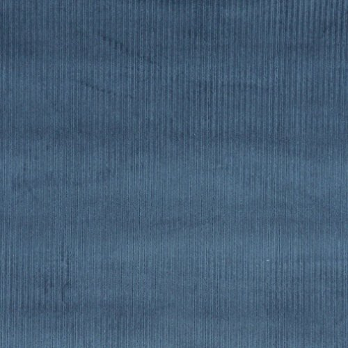 Railroaded Upholstery Fabric - E381 Blue Corduroy Striped Velvet Upholstery Fabric by The Yard