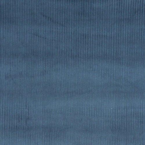 E381 Blue Corduroy Striped Velvet Upholstery Fabric by The ()