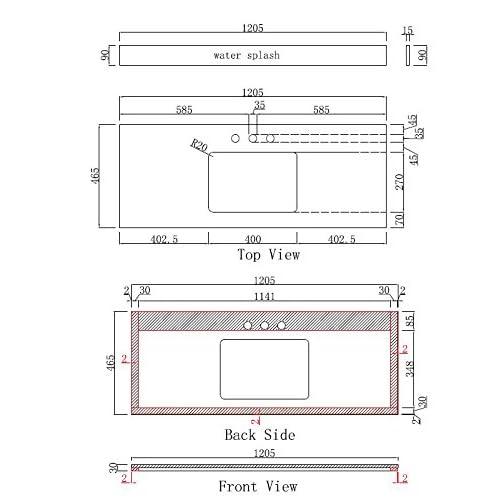 "hot sale Jade Bath JB-17650 47.5"" W x 18"" D Plywood-Veneer Vanity Set, Walnut"