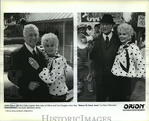 1990 Press Photo Eddie Albert and Eva Gabor star in Return to Green - Images Green Acres