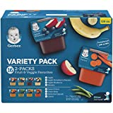 Gerber Purees 2nd Foods Veggie & Fruit Variety Pack, 8 Ounces, Box of...