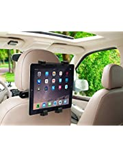 MMOBIEL Car Headrest Mount Holder Rotating Cradle Back Seat Dock Stand Compatible with iPad Tab and Other Tablets