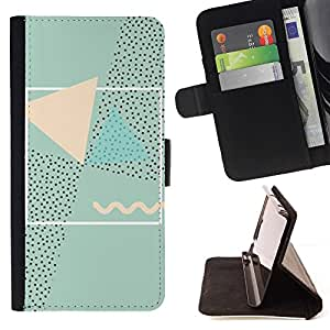 Momo Phone Case / Flip Funda de Cuero Case Cover - Resumen 90'S Arte Rosa Verde - HTC Desire 820